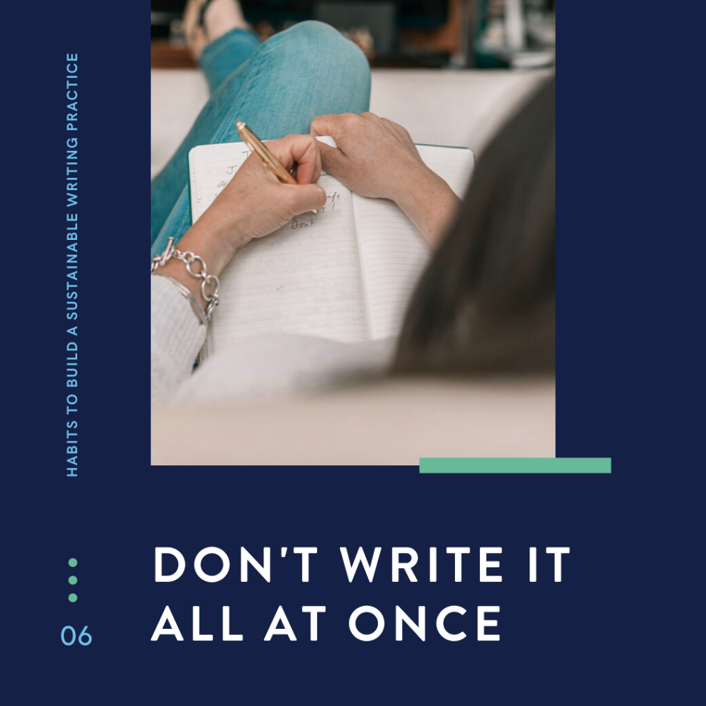 Healthy Habits to Build a Sustainable Writing Practice